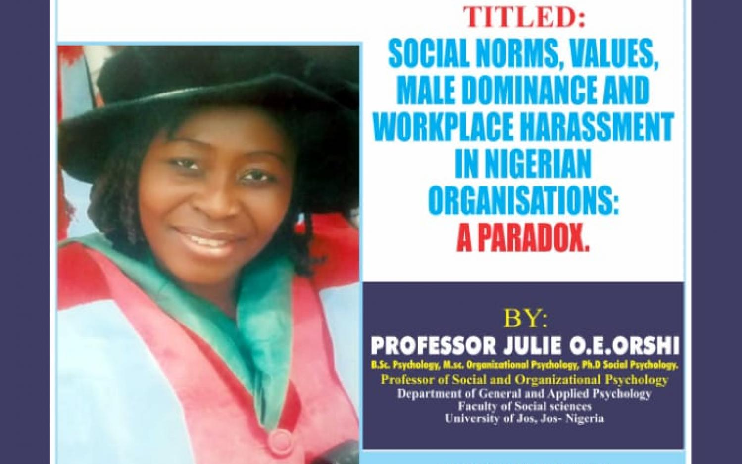 93rd Inaugural Lecture